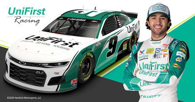 Chase Elliott with the all-new UniFirst No. 9 Chevrolet Camaro ZL1 1LE.