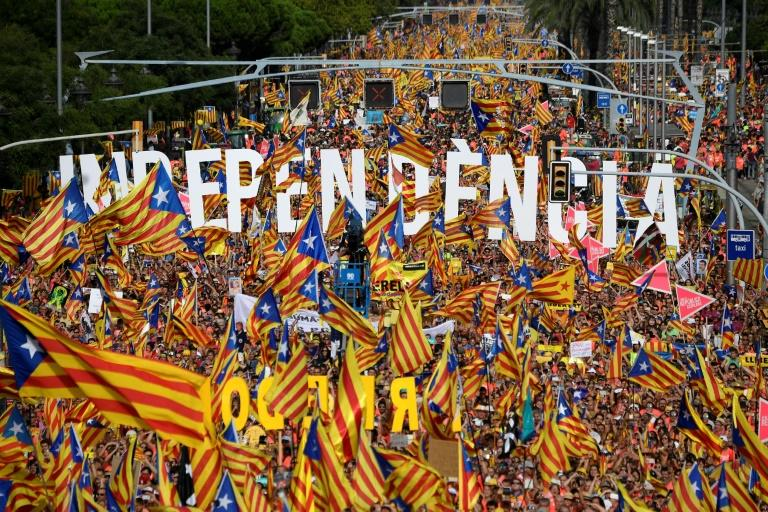 Around one million people marched in Barcelona on September 11, 2018, in favour of Catalan independence, a sign that the separatist camp remains highly motivated