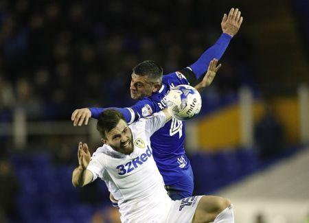 Britain Football Soccer - Birmingham City v Leeds United - Sky Bet Championship - St Andrews - 3/3/17 Birmingham's Paul Robinson in action with Leeds' Stuart Dallas  Mandatory Credit: Action Images / John Sibley Livepic