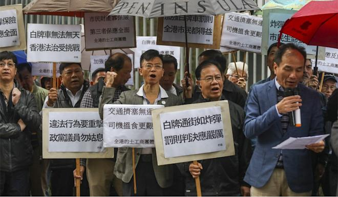 The taxi trade has been vocal in its opposition to Uber. Photo: Xiaomei Chen