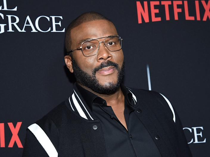 """Writer-director-actor Tyler Perry attends the premiere of Tyler Perry's """"A Fall from Grace,"""" at Metrograph, Monday, Jan. 13, 2020, in New York. (Photo by Evan Agostini/Invision/AP)"""