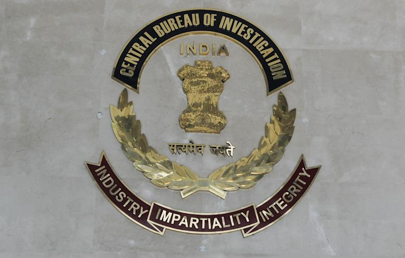 The logo of India's Central Bureau of Investigation (CBI) pictured at the organisation's headquarters in New Delhi on December 3, 2012
