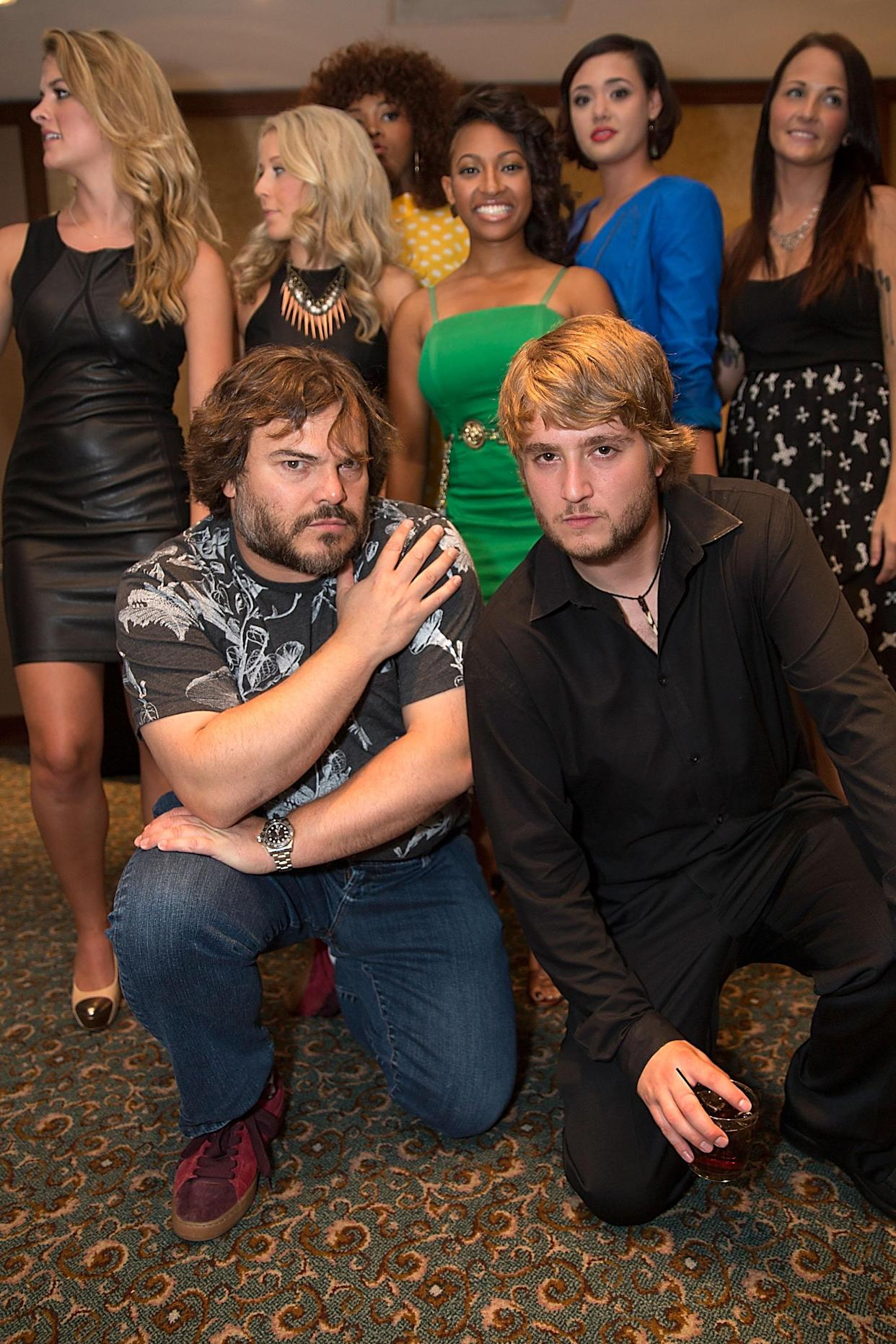 AUSTIN, TX - AUGUST 29:  Actor Jack Black and Kevin Alexander Clark attend the School Of Rock 10-Year cast reception at Omni Downtown on August 29, 2013 in Austin, Texas.  (Photo by Rick Kern/Getty Images)
