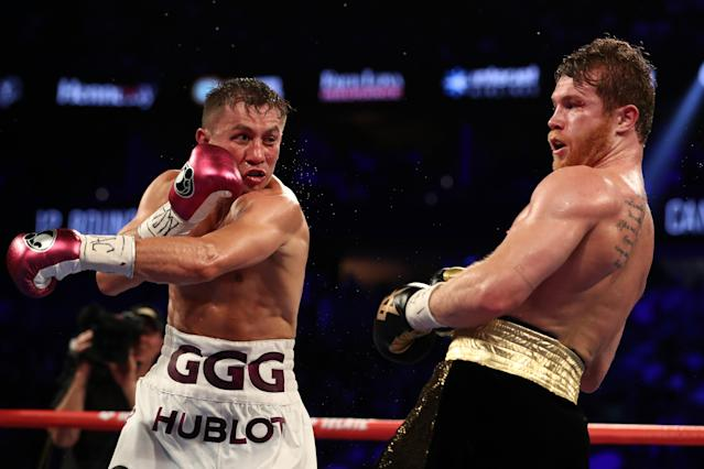 Gennady Golovkin vs Canelo Alvarez, 15 de septiembre de 2018. (Photo by Al Bello/Getty Images)