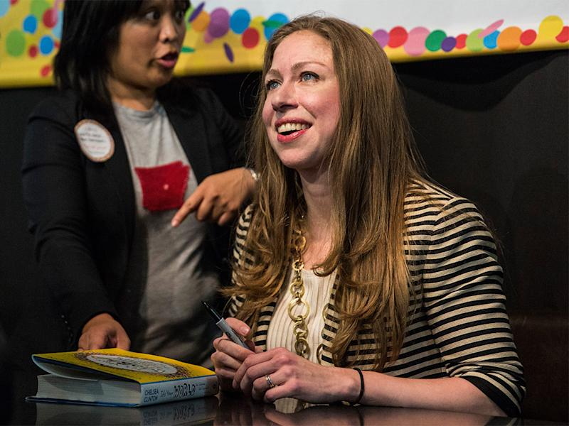Chelsea Clinton signs copies of her book in New York City: Getty Images