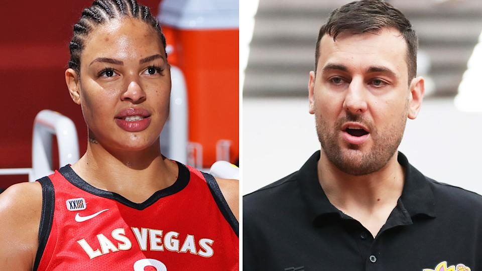 Liz Cambage has reacted angrily to Andrew Bogut's recent suggestion the pair conspired to generate outrage in the media, with the WNBA star saying the pair are not generally on speaking terms. Pictures: Getty Images
