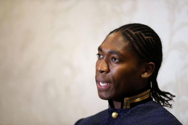 South African athlete Semenya speaks at a women's conference in Johannesburg