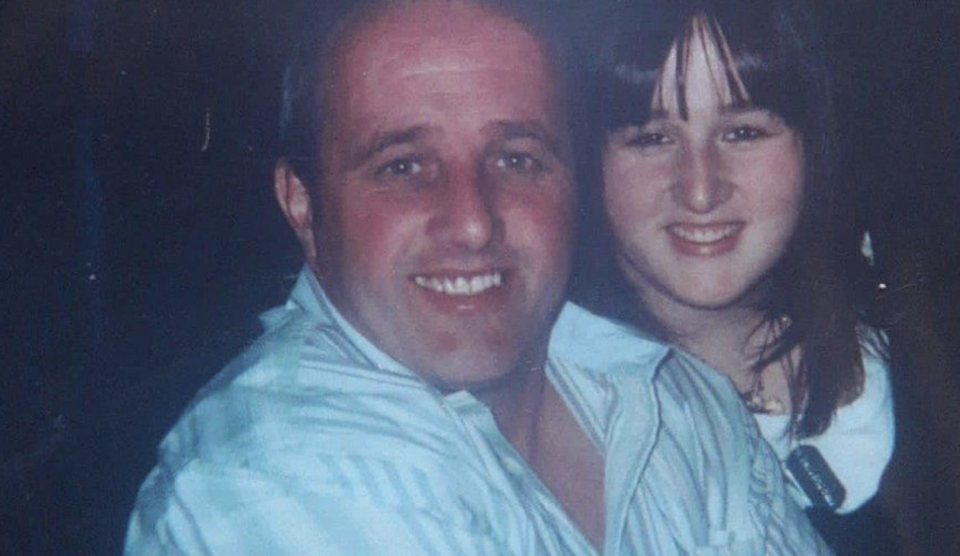 Ms Forde as a teen with her dad, Kevin McAllister.