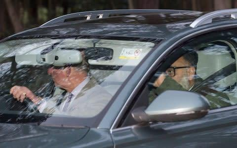 <span>Prince Charles leaves Sandringham Estate after crunch talks with his two sons and the Queen</span> <span>Credit: Anthony Jones </span>