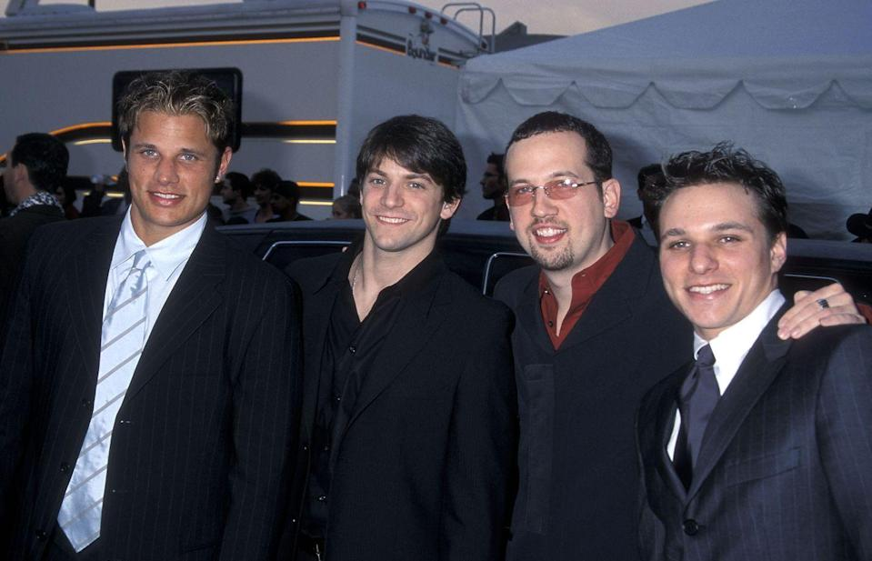 """<p>Nick Lachey and, to some extent, his brother and fellow bandmate Drew, achieved fame outside of music, but 98 Degrees was from whence the world first met them. With hits like """"Because of You"""" and """"Thank God I Found You,"""" the group made their mark (remember when they recorded a song for the <em>Mulan</em> soundtrack?!), but never quite achieved the same level as their contemporaries N*Sync and Backstreet Boys. Fortunately, we'll always have the MTV reality show <em>Newlyweds</em>, for which Nick and ex-wife Jessica Simpson will always be inextricably linked. </p>"""