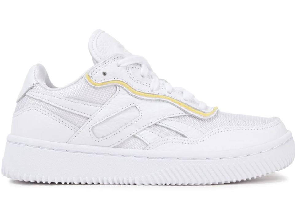 REEBOK X VICTORIA BECKHAM Dual Court II mesh and pebbled-leather sneakers