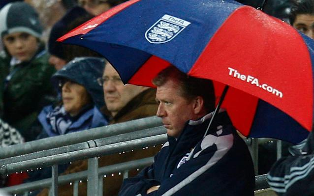 """Croatia will draw inspiration from the infamous """"Wally with the Brolly"""" debacle at Wembley as they bid to inflict more heartbreak on England, according to defender Vedran Corluka. Steve McClaren watched from under an umbrella as Croatia beat an error-strewn England 3-2 in the pouring rain in 2007 to deny his side a place at Euro 2008, an image that invited that unfortunate epithet. England have since beaten Croatia 4-1 and 5-1 in World Cup qualifying games but Corluka, who played in the win at Wembley, is hoping for a similar result to that night when the countries face each other in the World Cup semi-final in Moscow on Wednesday evening. """"Hopefully it will be a great game for the fans and hopefully it will be like more like Wembley in 2007,"""" the former Manchester City and Tottenham defender said. """"More like that please!"""" Whereas England have one of the youngest teams in the tournament, five of the Croatia players who started in their quarter-final penalty shoot-out victory over Russia are in their thirties and Corluka says the prospect of this being the last and best shot of World Cup glory for half the side is an added source of motivation. Vedran Corluka, Domagoj Vida, Dejan Lovren (L-R) celebrate Vida's stoppage time goal against Russia Credit: Sergei Fadeichev\\TASS """"Now it is probably the last World Cup for a lot of us [with Croatia],"""" said Corluka, 32. """"So it's a case of giving all that we have and going further than we ever have before. """"It's not just another game. We watched England in all their games and they played really well. They are confident and have a young team. Before they didn't have any pressure [coming into this tournament]. Now you are hoping that it can come home, yeah? """"We will both want to have possession and we like to play against teams like this because we have really fast players and it will be a really open game, not like against Russia or Denmark. """"You can see that they style of England is a little bit like Manchester City, especiall"""