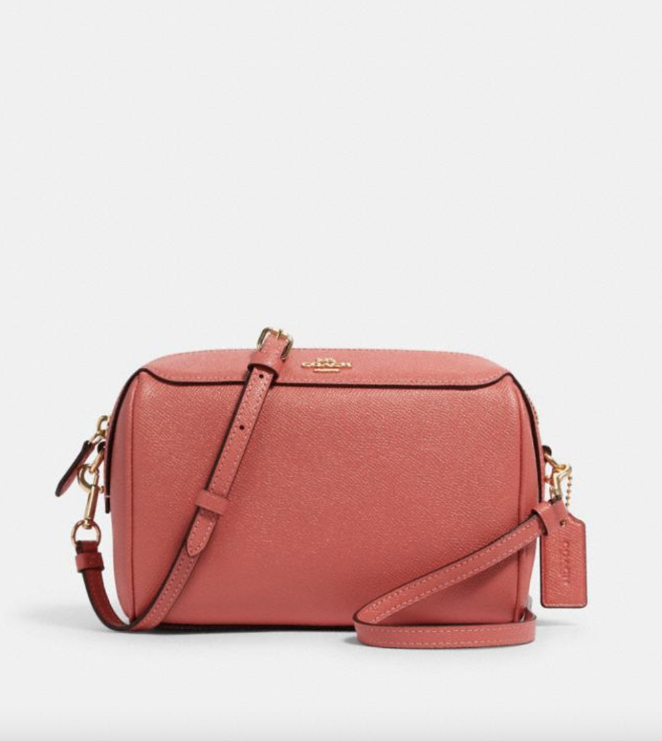 Bennett Crossbody in Coral (Photo via Coach Outlet)