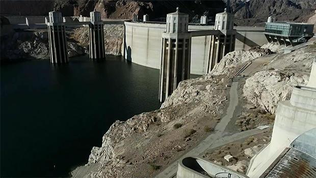 The view at Hoover Dam, 2021. / Credit: CBS News