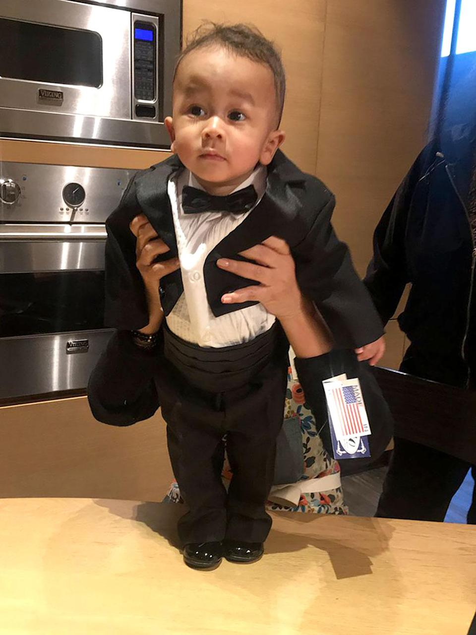 Chrissy Teigen Shares Photos of Son Miles Wearing Tuxedos