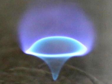 Soot-free 'blue whirl' flame recreated by researchers that could be handy in cleaning up oil spills