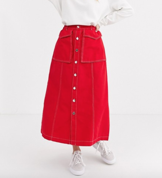 L.F.Markey Hector buttondown midi skirt