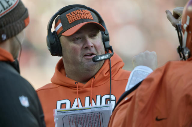 Cleveland Browns offensive coordinator Freddie Kitchens. (AP Photo/David Richard, File)