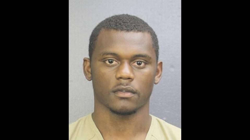 New York Giants player Deandre Baker (pictured) and Seattle Seahawks player Quinton Dunbar turned themselves into the Broward County Jail after Miramar police sought their arrest on robbery charges.