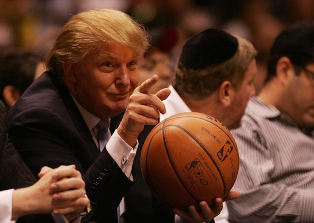 President Donald Trump was an NBA fan before he found out NBA players weren't a fan of him. (Getty Images)