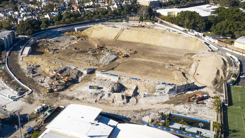 Allianz Stadium, pictured here during the demolition process in July.