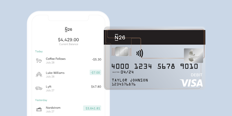 With a flashy app and some slick features, N26 hopes to take on the U.S. banking market. They have a long road ahead. (Image via N26)
