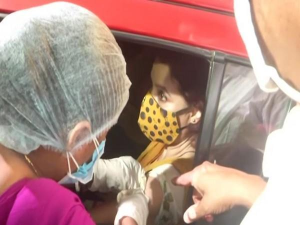 Drive-in vaccination initiative of West Bengal Government (Photo/ANI)