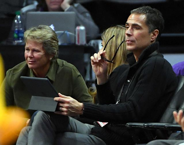 Lakers general manager Rob Pelinka might need to add Excel to his iPad. (Reuters)