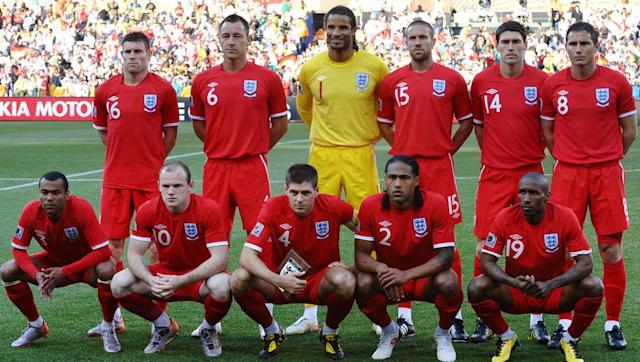 <p>England finished top of their 2010 World Cup qualifying group after failing to qualify for Euro 2008. They beat Belarus 3-0 in their final game with a starting 11 consisting of: </p> <br><p>Ben Foster, Glen Johnson, Wayne Bridge, Gareth Barry, Rio Ferdinand, John Terry, Aaron Lennon, Frank Lampard, Peter Crouch, Gabriel Agbonlahor and Shaun Wright-Phillips.</p> <br><p>England began their World Cup campaign with a poor 1-1 draw with USA. England made a whopping seven changes to the side that finished their qualifying campaign. Out went Foster, Ferdinand, Bridge, Barry, Wright-Phillips, Crouch and Agbonlahor and in came Rob Green, Ledley King, Ashley Cole, Steven Gerrard, James Milner, Wayne Rooney and Emile Heskey.</p> <br><p>After scraping their way out of the group stage, England fell at the first hurdle of the knockout stages after falling 4-1 to fierce rivals Germany. It was a game full of controversy, especially when Frank Lampard's goal was wrongfully ruled out and instead the sides went into halftime tied at 1-1.</p>