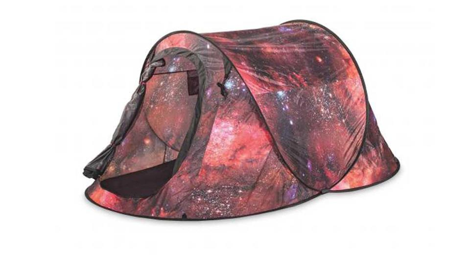 """<p>Stand out from the camping crowd (helpful when you're lost in a sea of tents) with Aldi's Adventuridge Galaxy Pop-Up Tent, £17.99 from selected Aldi stores and <a rel=""""nofollow noopener"""" href=""""https://www.aldi.co.uk"""" target=""""_blank"""" data-ylk=""""slk:aldi.co.uk"""" class=""""link rapid-noclick-resp"""">aldi.co.uk</a> </p>"""