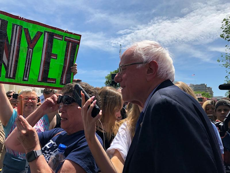 Sen. Bernie Sanders was among those attending the rally in Washington, D.C., on Tuesday. (Photo: Amanda Terkel/HuffPost)