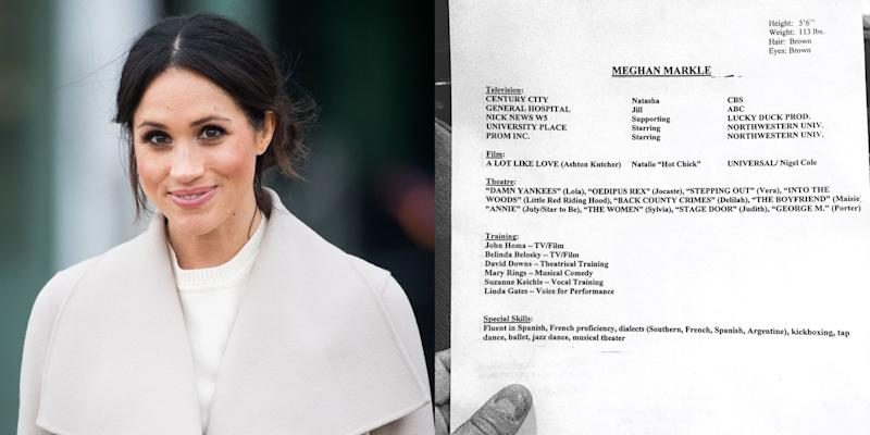 Meghan Markle S Old Acting Resume Headshot Is Proof That Her Style