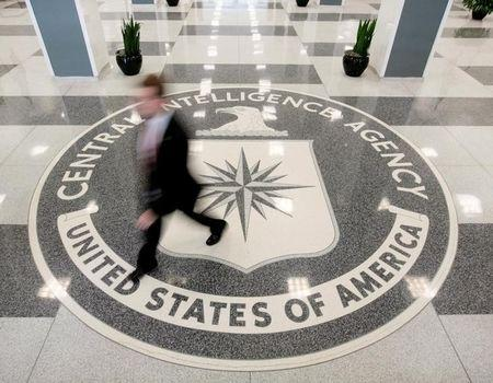 The lobby of the CIA Headquarters Building in Langley