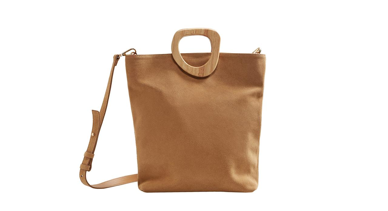 "<p>We told you Mango was the place to shop this season. We have our hearts set on this suede shopper. <em><a rel=""nofollow"" href=""https://shop.mango.com/gb/women/bags-shoppers/wooden-handle-leather-bag_23045720.html?c=CU&n=1&s=accesorios.accesorio;40,340,440"">Mango</a>, £49.99</em> </p>"