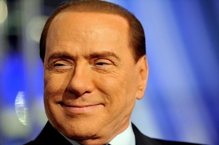Former Italian Prime Minister Silvio Berlusconi is pictured on an RAI 1 television set on 9 January 2013 in Rome