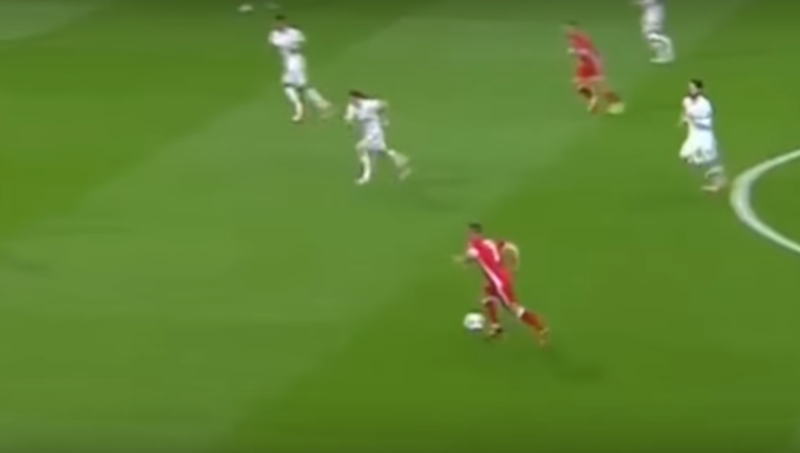 See Ya! Franck Ribery Effortlessly Nutmegs Luka Modric During Bayern's CL Clash With Real Madrid