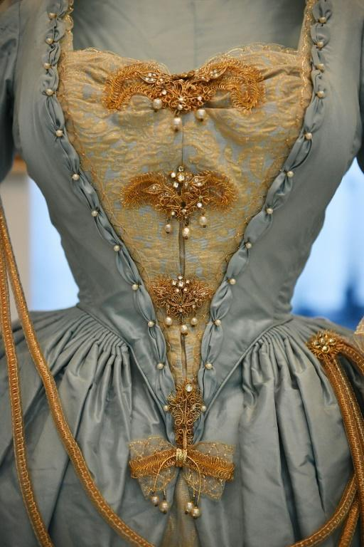 The most overtly sexy dress at the exhibition belonged to Princess Margaret and was made for a costume ball in 1964 by theatrical designer Oliver Messel
