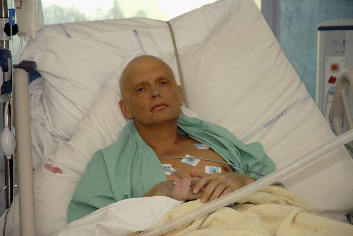 Alexander Litvinenko is pictured in the intensive care unit of University College Hospital in London on Nov. 20, 2006. (Photo: Natasja Weitsz/Getty Images)