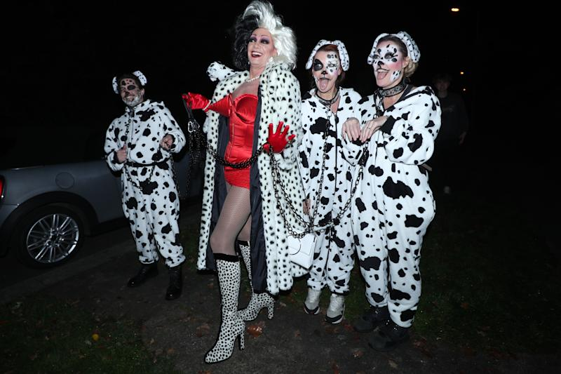 Craig Revel Horwood (centre) arrives at a Halloween party hosted by Jonathan Ross at his house in north London. (Photo by Yui Mok/PA Images via Getty Images)