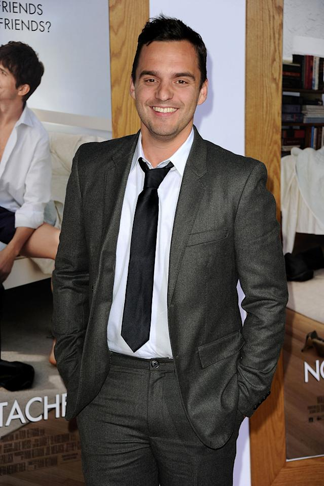 "<a href=""http://movies.yahoo.com/movie/contributor/1809206199"">Jake Johnson</a> attends the Los Angeles premiere of <a href=""http://movies.yahoo.com/movie/1810159162/info"">No Strings Attached</a> on January 11, 2011."