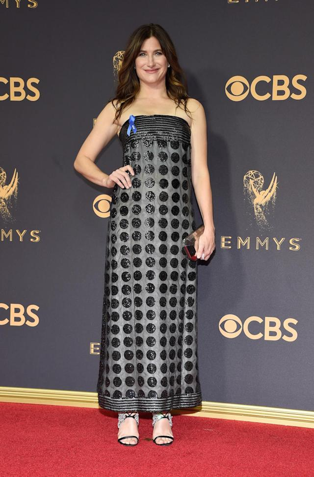 <p>Kathryn Hahn attends the 69th Primetime Emmy Awards on Sept. 17, 2017.<br> (Photo: Getty Images) </p>