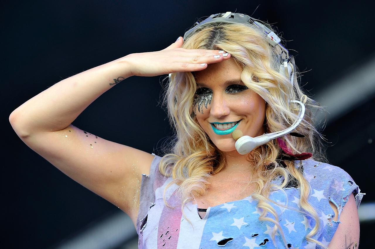LONDON, ENGLAND - JULY 02:  Ke$ha performs on day two of Wireless Festival at Hyde Park on July 2, 2011 in London, England.  (Photo by Matt Kent/WireImage)