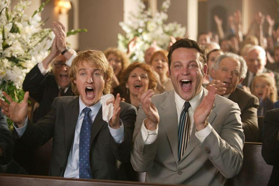 <p><em>Wedding Crashers</em> was a comedic reminder that weddings aren't just about the bride and groom—they can be memorable for party-goers (and crashers!) too. </p>
