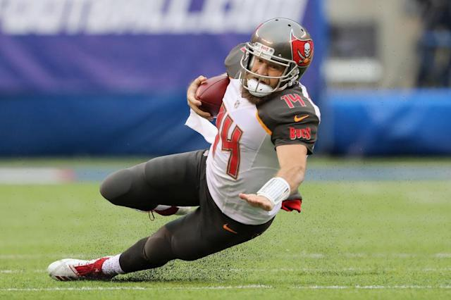 Ryan Fitzpatrick is out and Jameis Winston is in as Tampa Bay continues to struggle. (Getty)