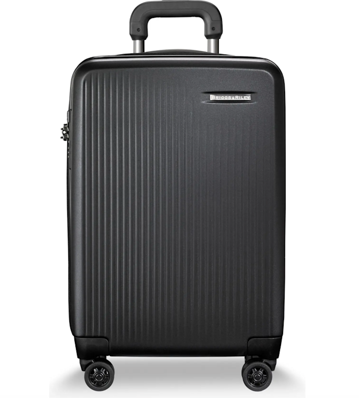 """<br> <br> <strong>Briggs and Riley</strong> 22-Inch Domestic Expandable Spinner Wheeled Suitcase, $, available at <a href=""""https://go.skimresources.com/?id=30283X879131&url=https%3A%2F%2Fwww.nordstrom.com%2Fs%2Fbriggs-riley-22-inch-domestic-expandable-spinner-wheeled-suitcase%2F4959448"""" rel=""""nofollow noopener"""" target=""""_blank"""" data-ylk=""""slk:Nordstrom"""" class=""""link rapid-noclick-resp"""">Nordstrom</a>"""