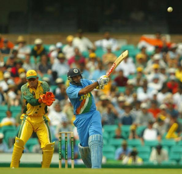 SYDNEY, AUSTRALIA - JANUARY 22: VVS Laxman of India in action during the VB Series One Day International between Australia and India at the SCG on January 22, 2004 in Sydney, Australia. (Photo by Daniel Berehulak/Getty Images)