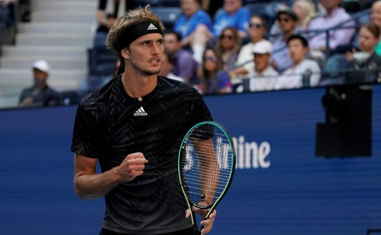 Germany's Alexander Zverev will face Serbian top seed Novak Djokovic in a Friday semi-final at the US Open (AFP/TIMOTHY A. CLARY)