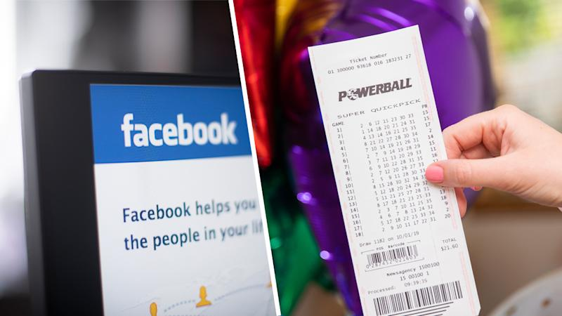 Sydney mum realises she won Powerball after looking at Facebook. Source: The Lott/Getty