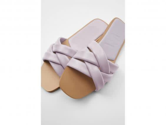 These pastel coloured sandals are perfect for a summer getaway (Zara)