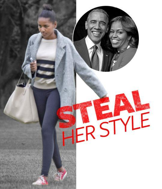"""<p>As the younger First Daughter, Sasha Obama has honed a low-key, athletic-inspired look for herself that's no less fashion-y than her older sister Malia's. When she's not all dressed up in cute cocktail frocks for appearances with her Presidential parents, this 14-year-old high schooler favors oversized coats and athleisure staples—and the <a href=""""http://www.eurweb.com/wp-content/uploads/2013/11/sasha-obama-unicorn.jpg"""" rel=""""nofollow noopener"""" target=""""_blank"""" data-ylk=""""slk:occasional unicorn sweater"""" class=""""link rapid-noclick-resp"""">occasional unicorn sweater</a>. </p>"""